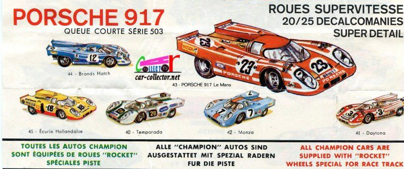 CATALOGUE CHAMPION 1971