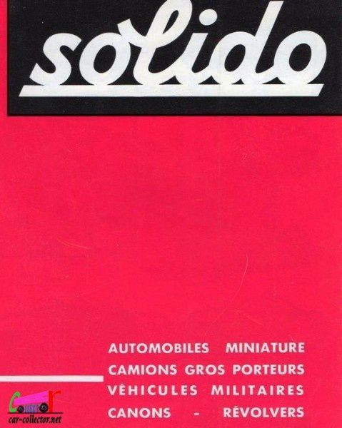 CATALOGUE SOLIDO 1963