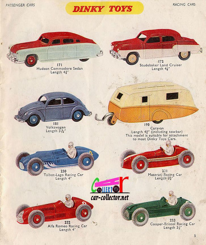 CATALOGUE DINKY TOYS 1958 GRANDE BRETAGNE