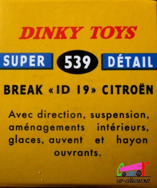 FASCICULE N°64 CITROEN DS ID 19 BREAK DINKY TOYS / ATLAS 1/43