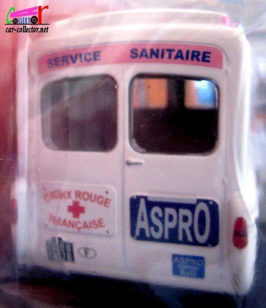 FASCICULE N°40 CITROEN TYPE H ASPRO SERVICE SANITAIRE CROIX ROUGE FRANCAISE IXO 1/43