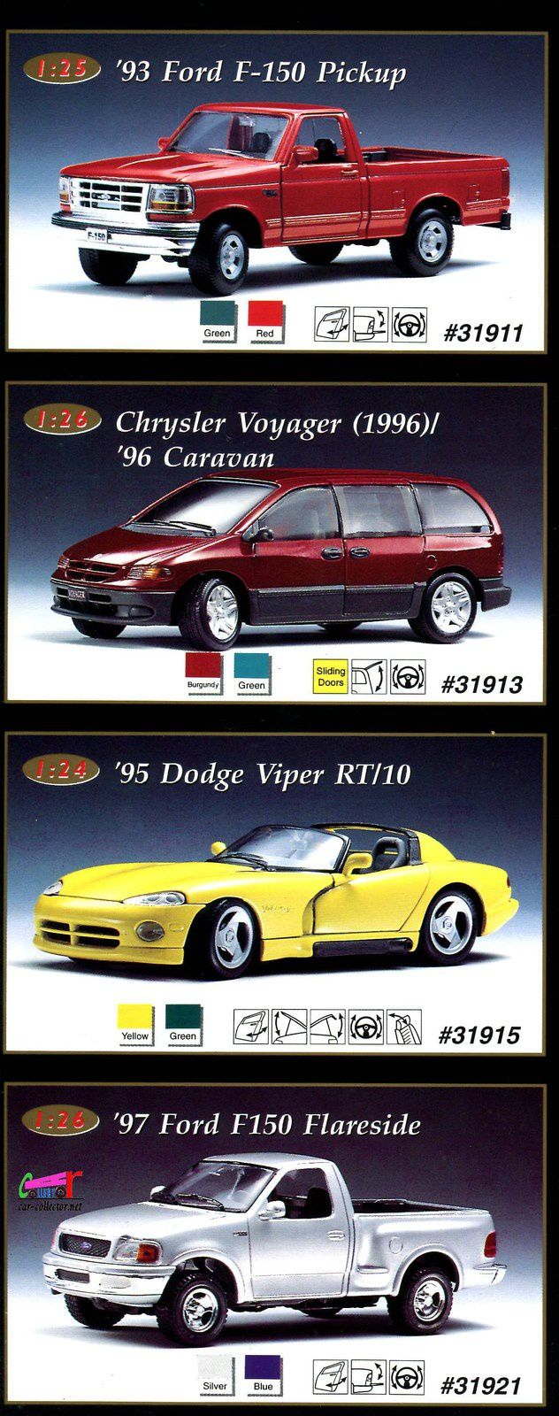 93-ford-f150-pick-up-chrysler-voyager-caravan-1996-95-dodge-viper-rt/10-97-ford-f150-flareside-maisto-1-24