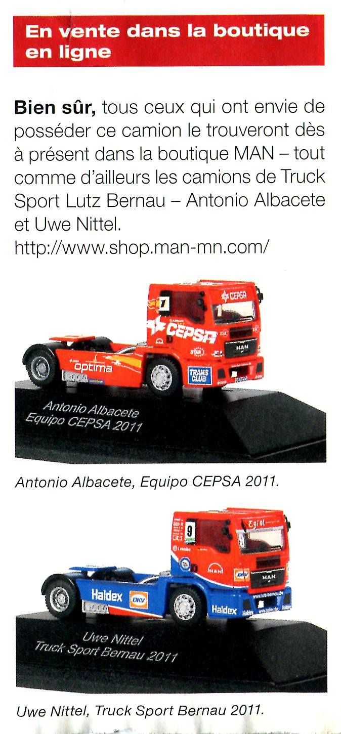 CAMION DE COURSE MAN EN MINIATURE - CLUB MAN'S TRUCKER WORLD