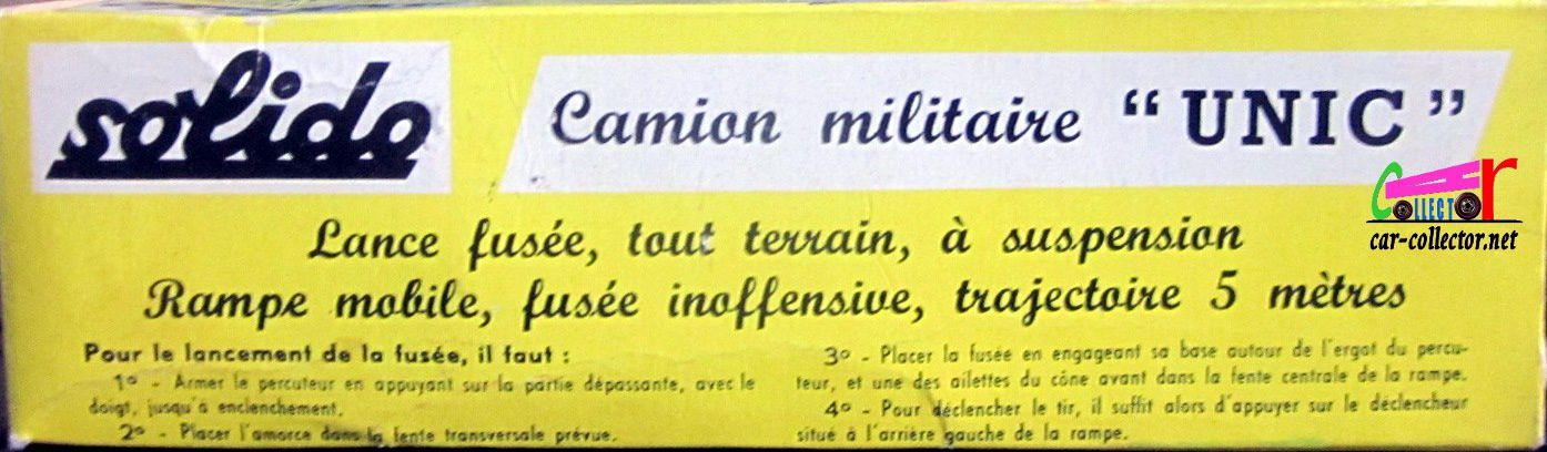 CAMION MILITAIRE UNIC SAHARA LANCE FUSEE SOLIDO 1/50