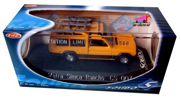 MATRA SIMCA RANCHO AVEC SKIS SOLIDO 1/43