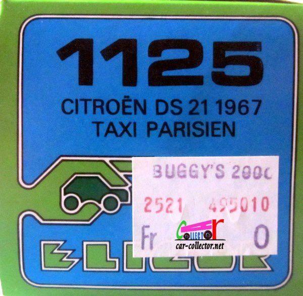 CITROEN DS 21 BERLINE TAXI PARISIEN 1967 ELIGOR 1/43