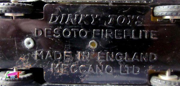 DESOTO FIREFLITE U.S.A POLICE CAR DINKY TOYS 1/43