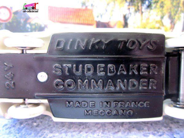 STUDEBAKER COMMANDER 1957 DINKY TOYS 1/43.