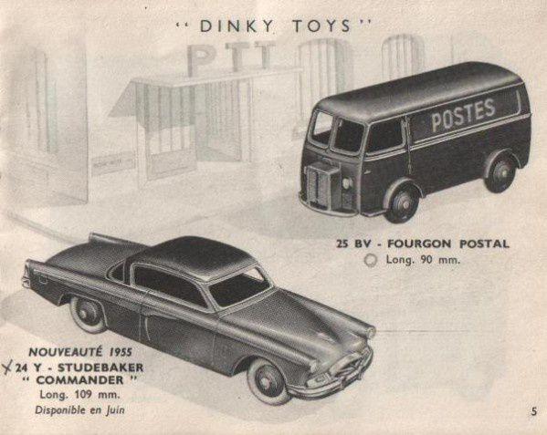 CATALOGUE DINKY TOYS 1955 FABRICATION MECANO COUVERTURE EN COULEURS