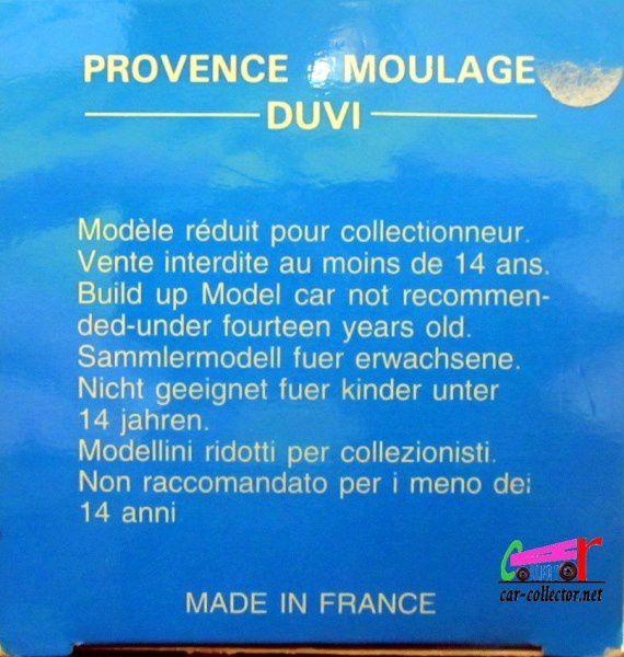 PANHARD DYNA X 1951 CABRIOLET RESINE PROVENCE MOULAGE 1/43