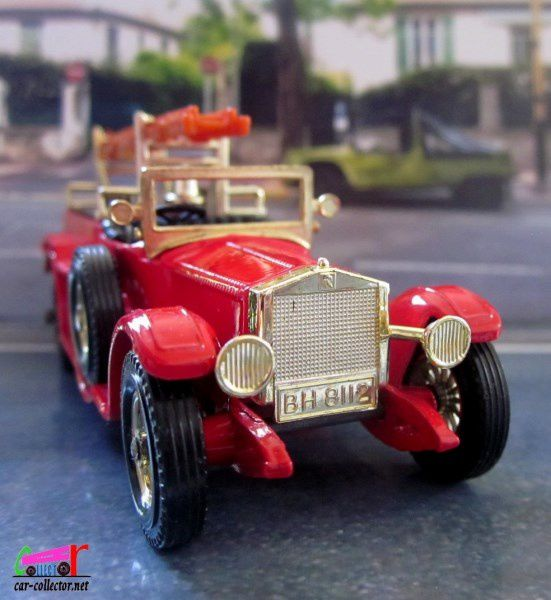 Y6-4 1920 TORPEDO ROLLS ROYCE FIRE ENGINE MATCHBOX 1/48