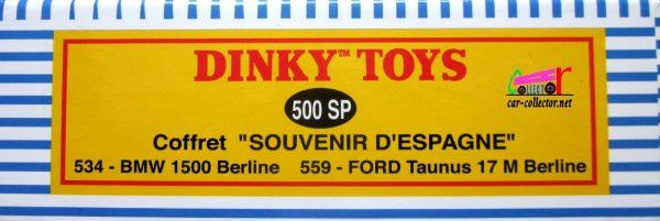 COFFRET COLLECTOR SOUVENIRS D'ESPAGNE FORD TAUNUS 17M BMW 1500 DINKY TOYS REEDITION ATLAS 1/43