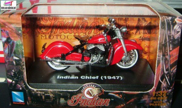 MOTO INDIAN CHIEF 1947 NEWRAY 1/32.