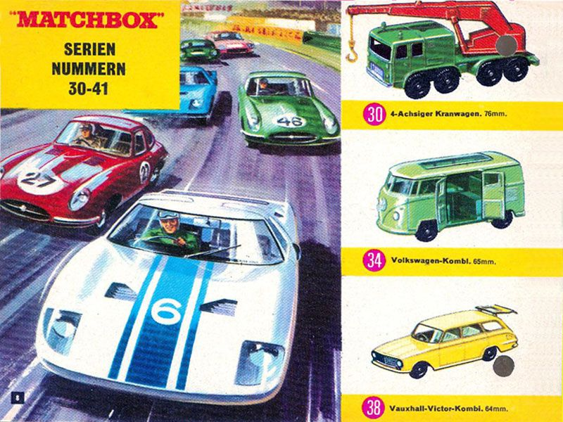 CATALOGUE MATCHBOX 1966 DEUTSCHE KATALOG MATCHBOX 1966.