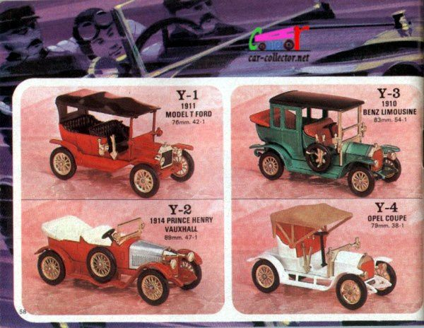 catalogue-matchbox-1971-allemagne-page-58-ford-model-t-1911-prince-henry-vauxhall-1914-opel-coupe-benz-limousine-1910