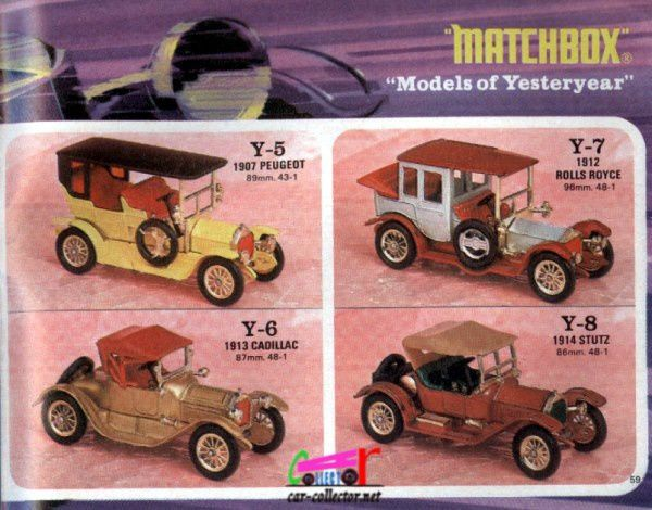 catalogue-matchbox-1971-allemagne-page-59-1907-peugeot-rolls-royce-1912-1913-cadillac-1914-stutz