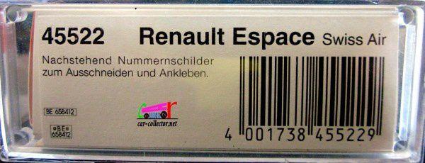 RENAULT ESPACE SWISSAIR BUSCH 1/87.