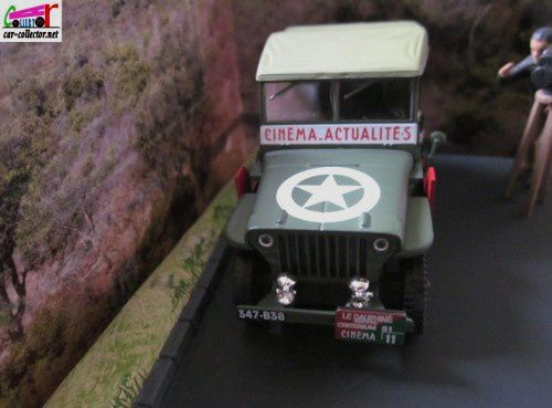 FASCICULE N°12 DIORAMA JEEP WILLYS MD38 1951 - LA COURSE CYCLISTE - L'ESTEREL.