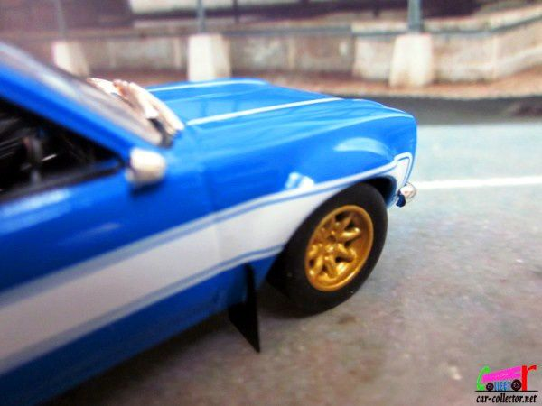BRIAN'S 1974 FORD ESCORT RS2000 MK1 FAST AND FURIOUS 6 GREENLIGHT 1/43.