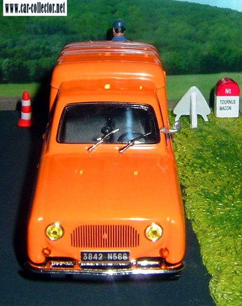 FASCICULE N°47 DIORAMA RENAULT 4 R4 FOURGONNETTE - TRAVAUX ROUTIERS MACON.