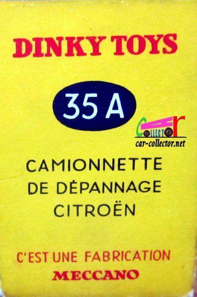CITROEN U23 DEPANNEUSE DINKY TOYS 1/43.