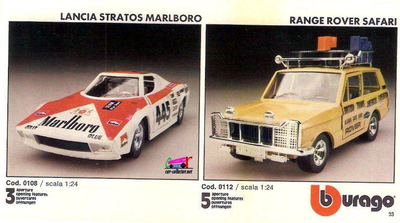 CATALOGUE BURAGO 1982 - CATALOGO BURAGO 1982.