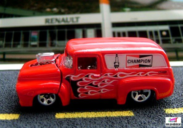 56-ford-f-100-red-bougies-champion-hw-performance-hot-wheels-1-64