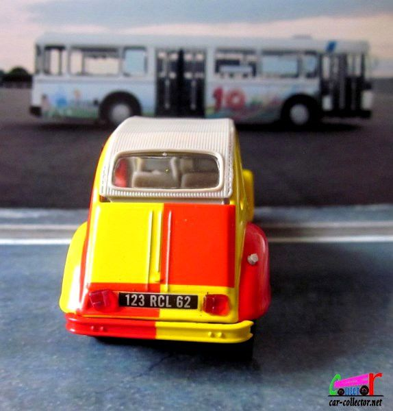 FASCICULE N°118 CITROEN 2CV 6 SANG ET OR RACING CLUB DE LENS NOREV 1/43.