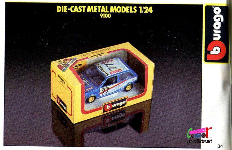modeles-burago-echelle-1-24-serie-9100
