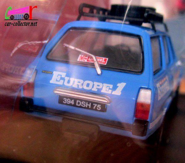 FASCICULE N°92 PEUGEOT 504 DANGEL 4X4 RADIO EUROPE 1 IXO 1/43.