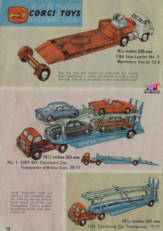 CATALOGUE MINIATURES CORGI 1959.