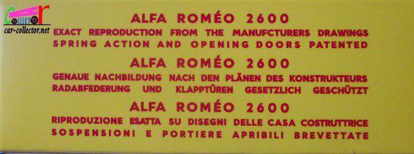 ALFA-ROMEO 2600 1963 REEDITION SOLIDO 1/43.