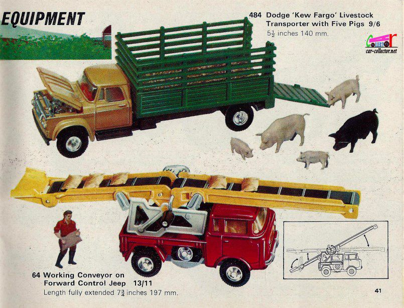 CATALOGUE CORGI 1967-1968.