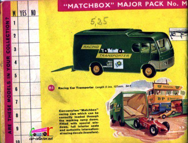 CATALOGUE MATCHBOX 1965.