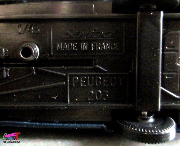 PEUGEOT 203 PANEL L'EST REPUBLICAIN DONNEURS DE SANG SOLIDO 1/43.