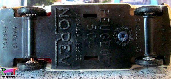 PEUGEOT 504 INJECTION BERLINE 1969 NOREV 1/43.