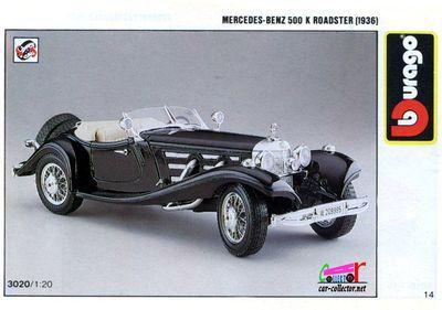 catalogue-burago-1990-mercedes-500k-roadster-1936-catalogo-burago-1990-katalog-burago-1990-catalog-bburago-1990