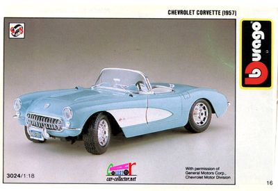 catalogue-burago-1990-chevrolet-corvette-convertible-1957-catalogo-burago-1990-katalog-burago-1990-catalog-bburago-1990