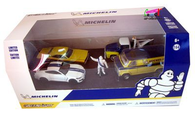 coffret-michelin-greenlight-van-gmc-ford-f100-ford-mustang-dodge-rt-bibendum
