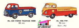 catalogue-tekno-1961-ford-taunus-1000-pick-up-vw-combi-pick-up