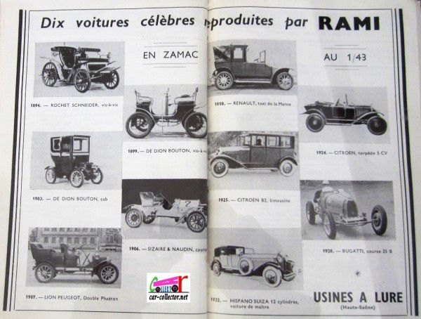 repertoire-mondial-des-automobiles-miniatures-geo-ch-veran-world-directory-of-models-cars-voitures-rami