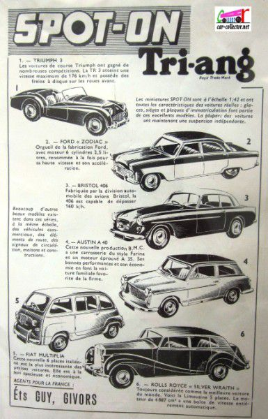 repertoire-mondial-des-automobiles-miniatures-geo-ch-veran-world-directory-of-models-cars-publicite-spot-on-triang