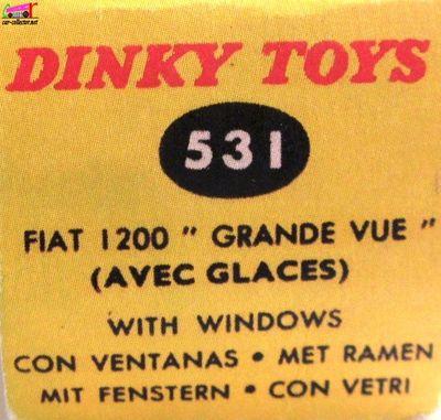 fiat-1200-grande-vue-dinky-toys-meccano-france