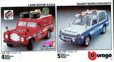 catalogue-burago-1983-catalogo-bburago-1983-catalog-burago-1983-katalog-burago-1983-land-rover-aziza-talbot-matra-holidays