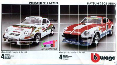 catalogue-burago-1983-catalogo-bburago-1983-catalog-burago-1983-katalog-burago-1983-kit-porsche-911-armel-kit-datsun-280z-seiko
