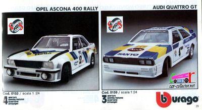 catalogue-burago-1983-catalogo-bburago-1983-catalog-burago-1983-katalog-burago-1983-opel-ascona-400-rally-audi-quattro