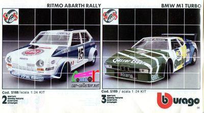 catalogue-burago-1983-catalogo-bburago-1983-catalog-burago-1983-katalog-burago-1983-fiat-ritmo-abarth-rallye-bmw-m1-turbo