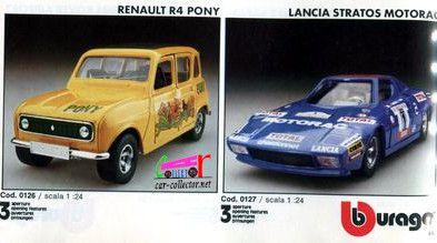 catalogue-burago-1983-catalogo-bburago-1983-catalog-burago-1983-katalog-burago-1983-renault-r4-pony-lancia-stratos-motorad