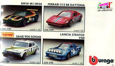 catalogue-burago-1983-catalogo-bburago-1983-catalog-burago-1983-katalog-burago-1983-bmw-m1-imsa-ferrari-512-bb-daytona-saab-900-sonab-lancia-stratos-vsd