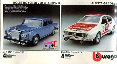 catalogue-burago-1983-catalogo-bburago-1983-catalog-burago-1983-katalog-burago-1983-rolls-royce-silver-shadow-alfetta-corsa